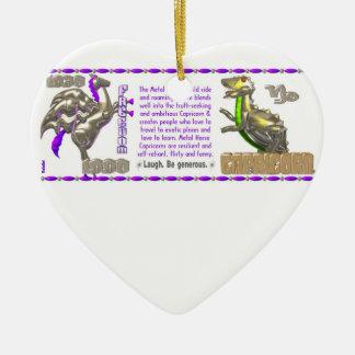 Valxart 1990 2050 MetalHorse zodiac Capricorn Ceramic Ornament