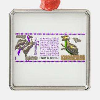 Valxart 1990 2050 MetalHorse zodiac Capricorn Metal Ornament