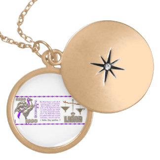 Valxart 1990 2050 MetalHorse zodiac Libra Round Locket Necklace