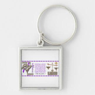 Valxart 1990 2050 MetalHorse zodiac Libra Silver-Colored Square Keychain