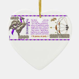 Valxart 1990 2050 MetalHorse zodiac  Sagittarius Ceramic Ornament