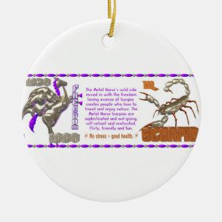 Valxart 1990 2050 MetalHorse zodiac Scorpio Ceramic Ornament