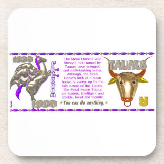 Valxart 1990 2050 MetalHorse zodiac Taurus Drink Coaster