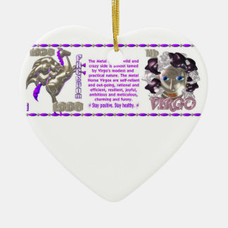 Valxart 1990 2050 MetalHorse zodiac Virgo Ceramic Ornament