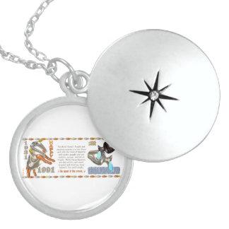 Valxart 1991 2051 MetalSheep zodiac Aquarius Round Locket Necklace