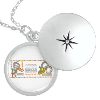 Valxart 1991 2051 MetalSheep zodiac  Aries Round Locket Necklace