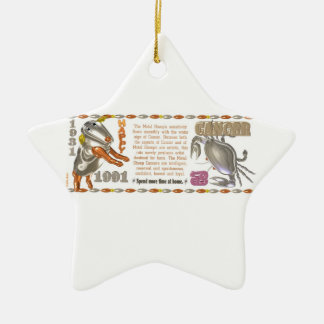 Valxart 1991 2051 MetalSheep zodiac Cancer Double-Sided Star Ceramic Christmas Ornament