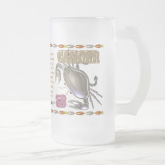 Valxart 1991 2051 MetalSheep zodiac Cancer Frosted Glass Beer Mug