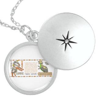 Valxart 1991 2051 MetalSheep zodiac Capricorn Round Locket Necklace