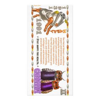 Valxart 1991 2051 MetalSheep zodiac Gemini Custom Photo Card