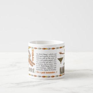 Valxart 1991 2051 MetalSheep zodiac Libra 6 Oz Ceramic Espresso Cup