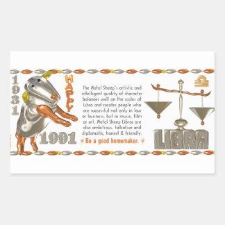 Valxart 1991 2051 MetalSheep zodiac Libra Rectangular Sticker