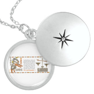 Valxart 1991 2051 MetalSheep zodiac Libra Round Locket Necklace