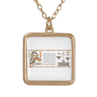 Valxart 1991 2051 MetalSheep zodiac Libra Square Pendant Necklace