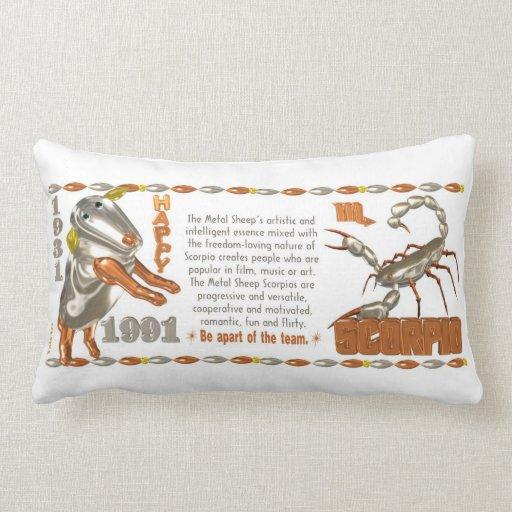 Valxart 1991 2051 MetalSheep zodiac Scorpio Pillow