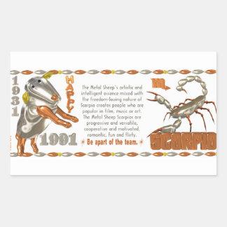 Valxart 1991 2051 MetalSheep zodiac Scorpio Rectangular Sticker