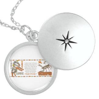 Valxart 1991 2051 MetalSheep zodiac Scorpio Round Locket Necklace