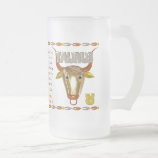 Valxart 1991 2051 MetalSheep zodiac Taurus Frosted Glass Beer Mug