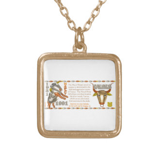 Valxart 1991 2051 MetalSheep zodiac Taurus Square Pendant Necklace