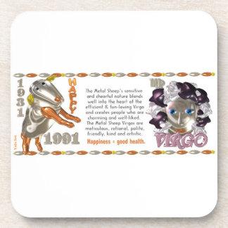 Valxart 1991 2051 MetalSheep zodiac Virgo Coaster