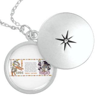 Valxart 1991 2051 MetalSheep zodiac Virgo Round Locket Necklace