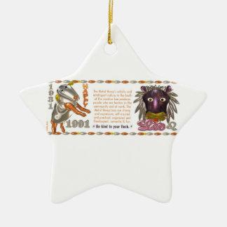 Valxart 1991 2051 zodiacos Leo de MetalSheep Ornamento De Reyes Magos