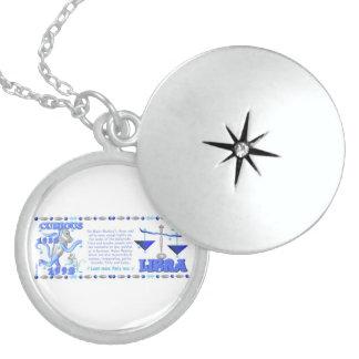 Valxart 1992 2052 WaterMonkey zodiac Libra Round Locket Necklace