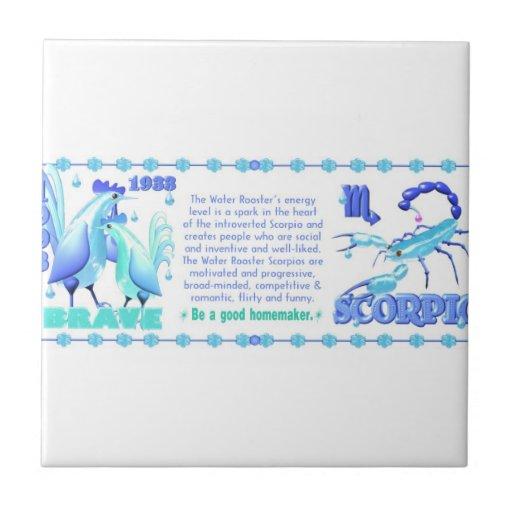 Valxart 1993 2053 escorpiones del zodiaco de Water Tejas Cerámicas