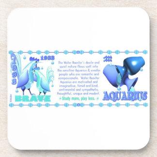 Valxart 1993 2053 WaterRooster zodiac  Aquarius Beverage Coaster