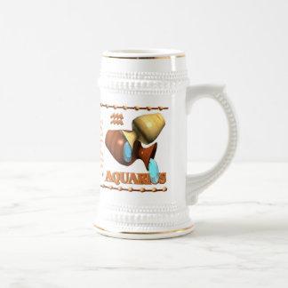 Valxart 1994 2054 WoodDog zodiac Aquarius Beer Stein