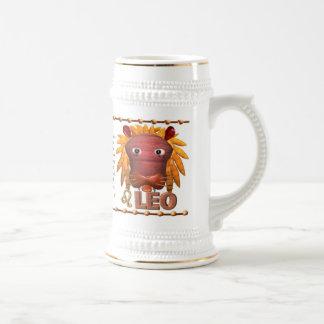 Valxart 1994 2054 WoodDog zodiac Leo Beer Stein