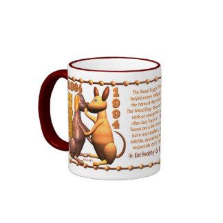 Valxart 1994 2054 WoodDog zodiac Taurus Ringer Mug