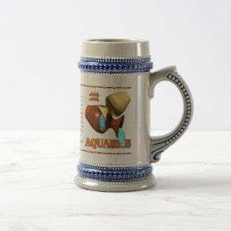 Valxart 1995 2055 acuarios del zodiaco de WoodPig Jarra De Cerveza