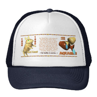 Valxart 1995 2055 WoodPig zodiac Aquarius Trucker Hat