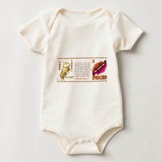 Valxart 1995 2055 WoodPig zodiac Pisces Baby Bodysuit