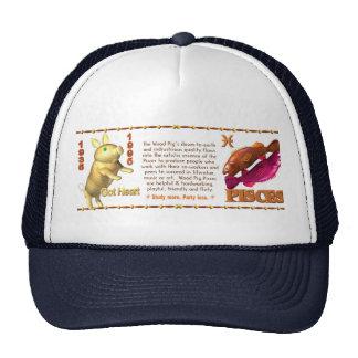 Valxart 1995 2055 WoodPig zodiac Pisces Trucker Hat