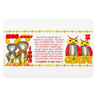 Valxart 1996 2056 FireRat zodiac Gemini Magnet