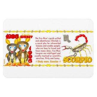 Valxart 1996 2056 FireRat zodiac Scorpio Magnet