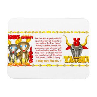 Valxart 1996 2056 FireRat zodiac Taurus Magnet