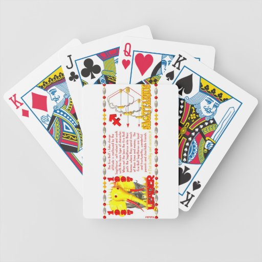 Valxart 1997 2057 1937 FireBull zodiac Sagittarius Poker Deck
