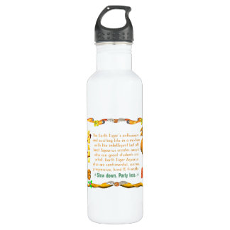 Valxart 1998 1938 2058 zodiac EarthTiger Aquarius Water Bottle