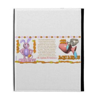 Valxart 1999 1939 2059 zodiac EarthRabbit Aquarius iPad Folio Cases
