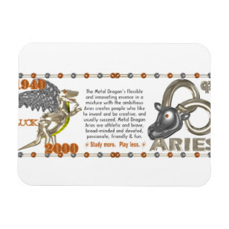 Valxart 2000 1940  2060 zodiac MetalDragon Aries Magnet