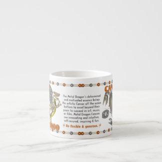 Valxart 2000 1940  2060 zodiac MetalDragon Cancer Espresso Cup