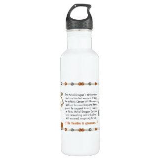 Valxart 2000 1940  2060 zodiac MetalDragon Cancer Water Bottle