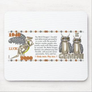 Valxart 2000 1940  2060 zodiac MetalDragon Gemini Mouse Pad