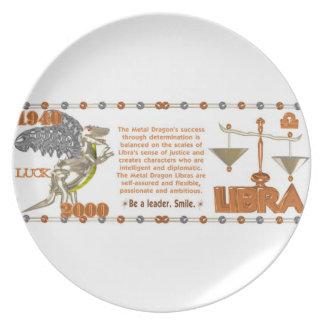 Valxart 2000 1940  2060 zodiac MetalDragon Libra Dinner Plate