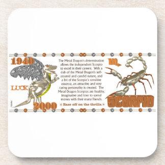 Valxart 2000 1940  2060 zodiac MetalDragon Scorpio Beverage Coaster