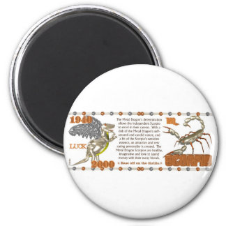 Valxart 2000 1940  2060 zodiac MetalDragon Scorpio Magnet