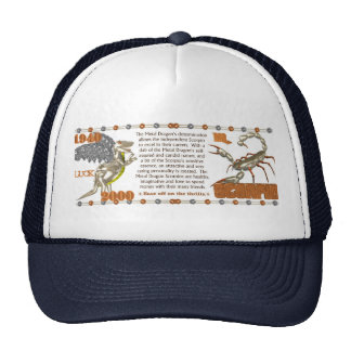 Valxart 2000 1940  2060 zodiac MetalDragon Scorpio Trucker Hat